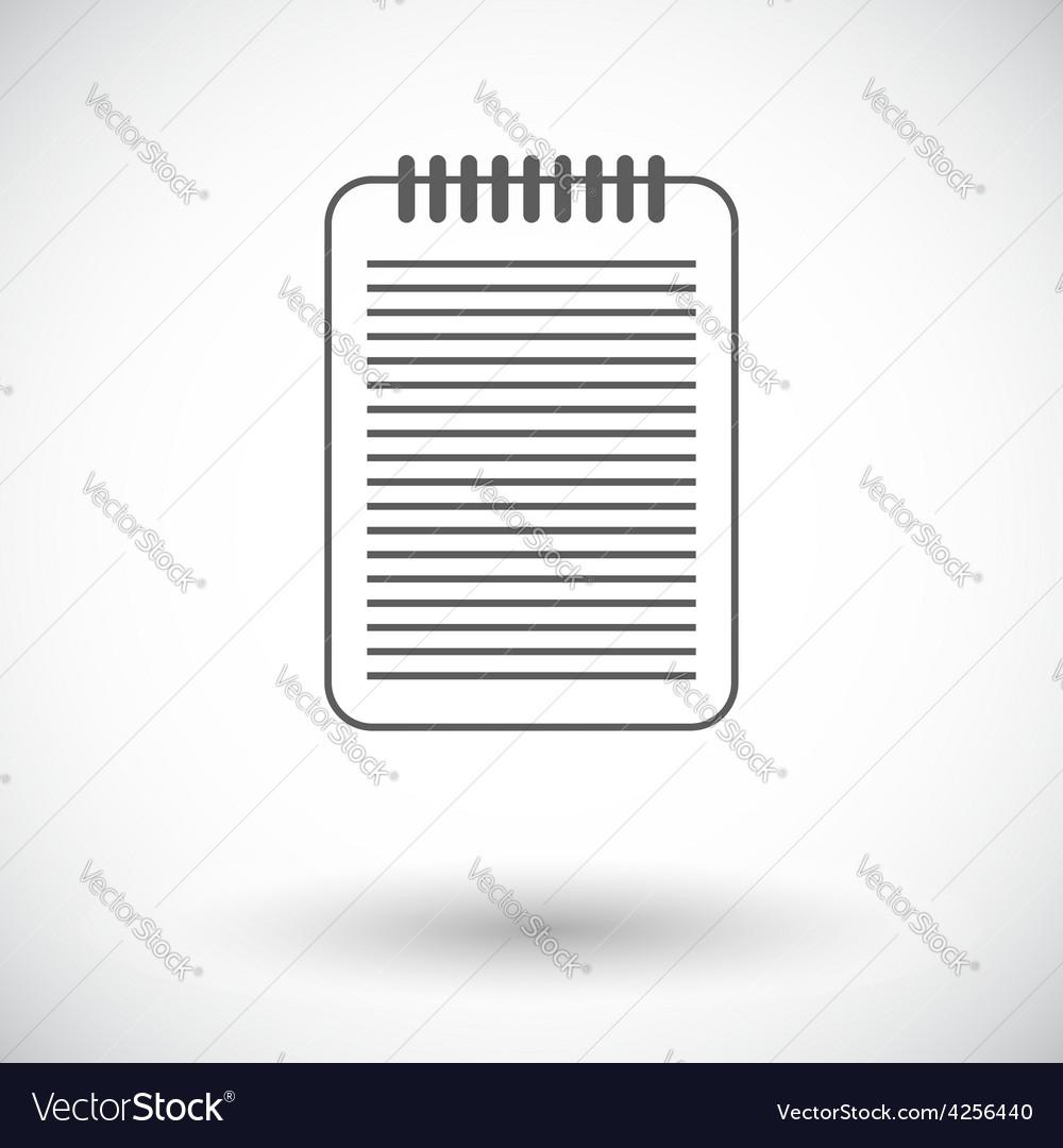 Document single icon vector