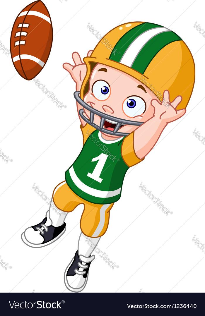 Football kid vector