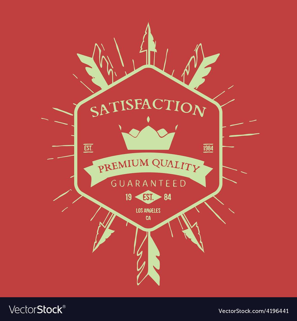 Premium quality label and badge vector