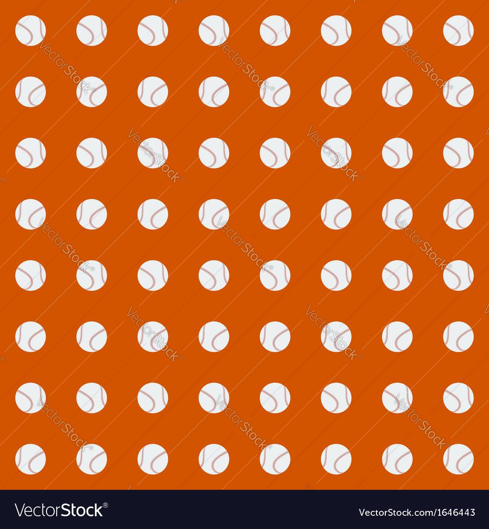 Seamless pattern with baseball balls vector