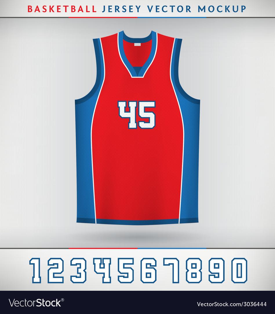 Basketball jesrsey vector