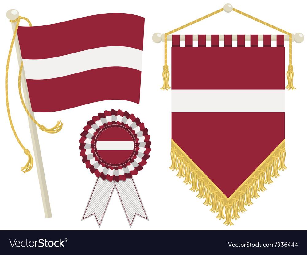Latvia flags vector