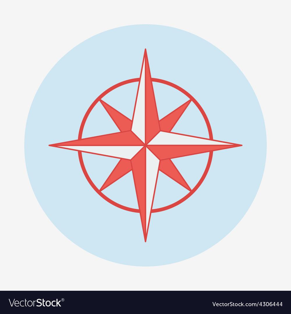 Pirate or sea icon wind rose flat design vector