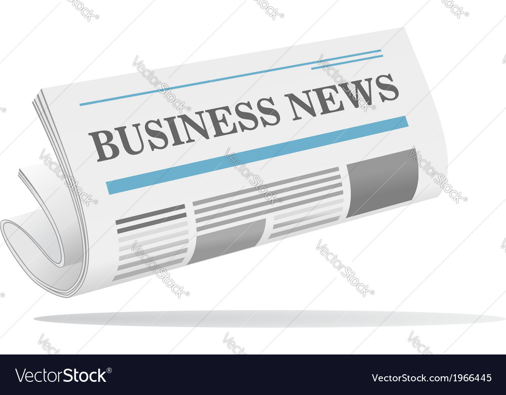 Folded newspaper icon with header vector