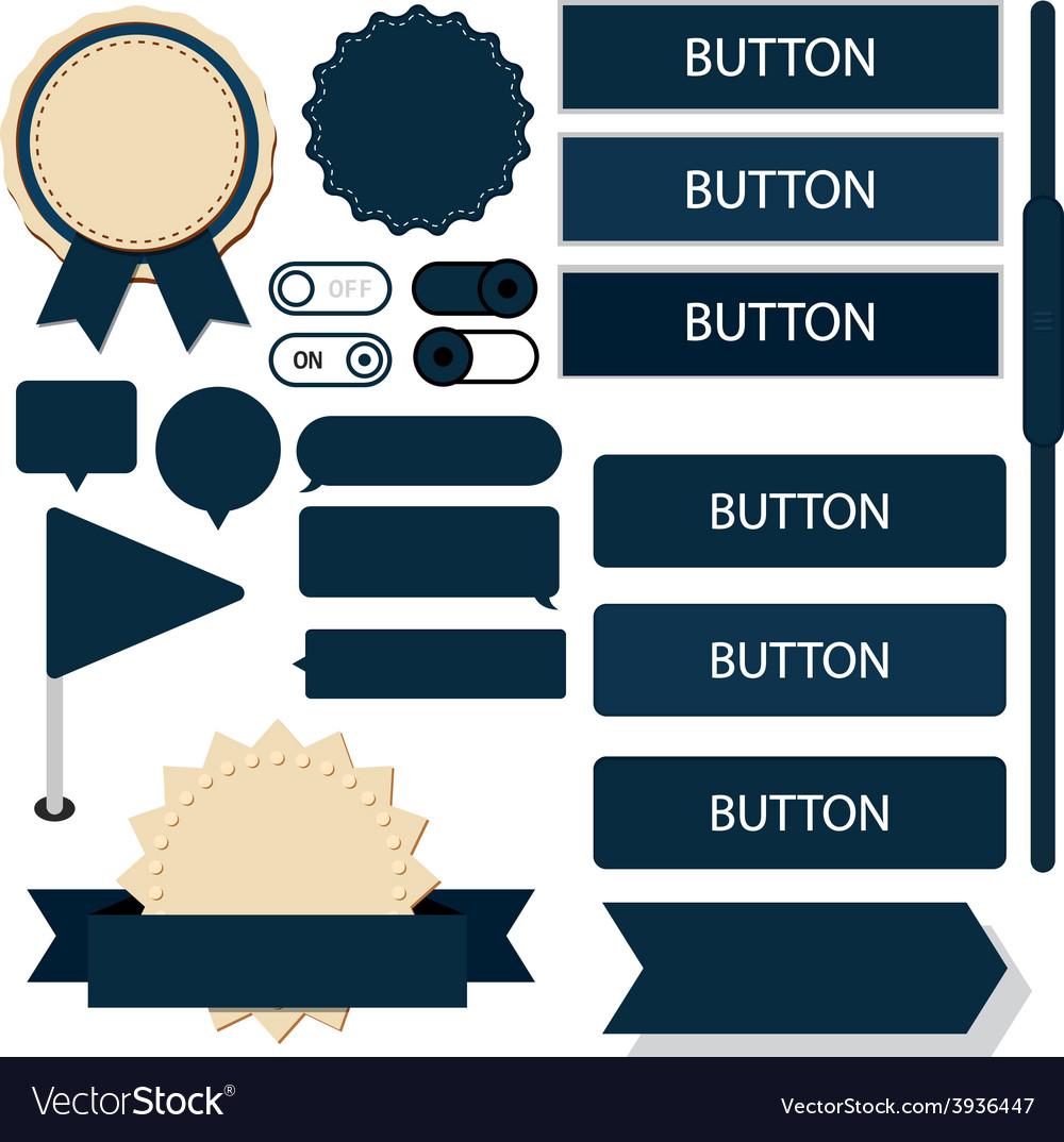 Flat web design elements vector