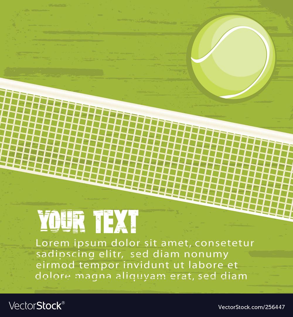 Grunge tennis background vector