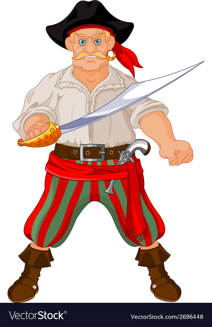 Armed pirate vector