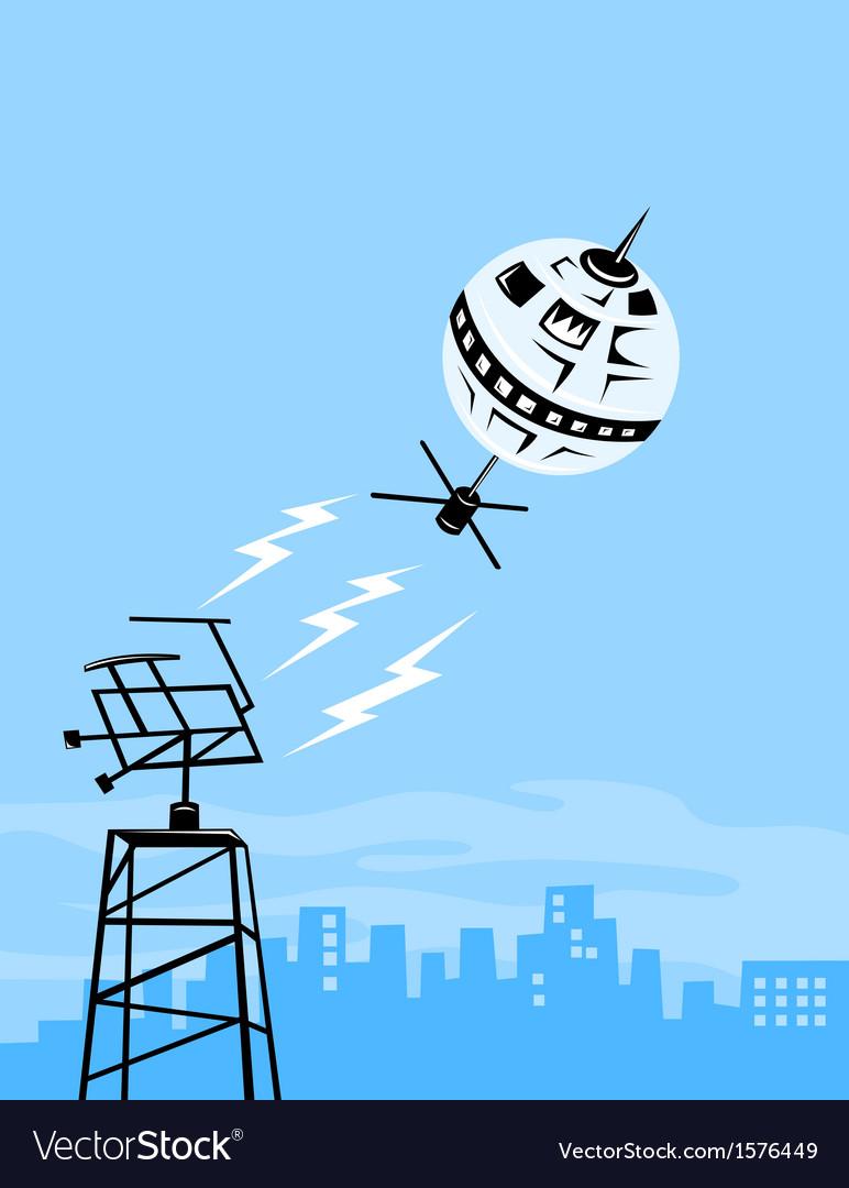 Satellite aerial dish vector