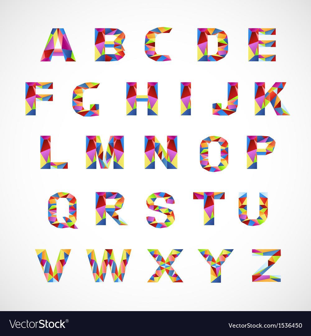 Creative colorful alphabet set vector