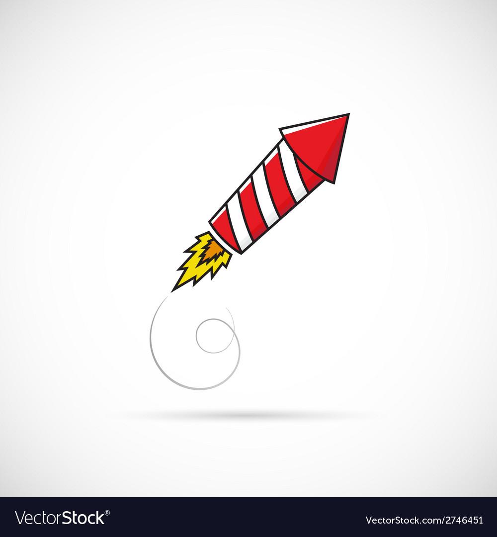 Firework rocket symbol icon or label vector