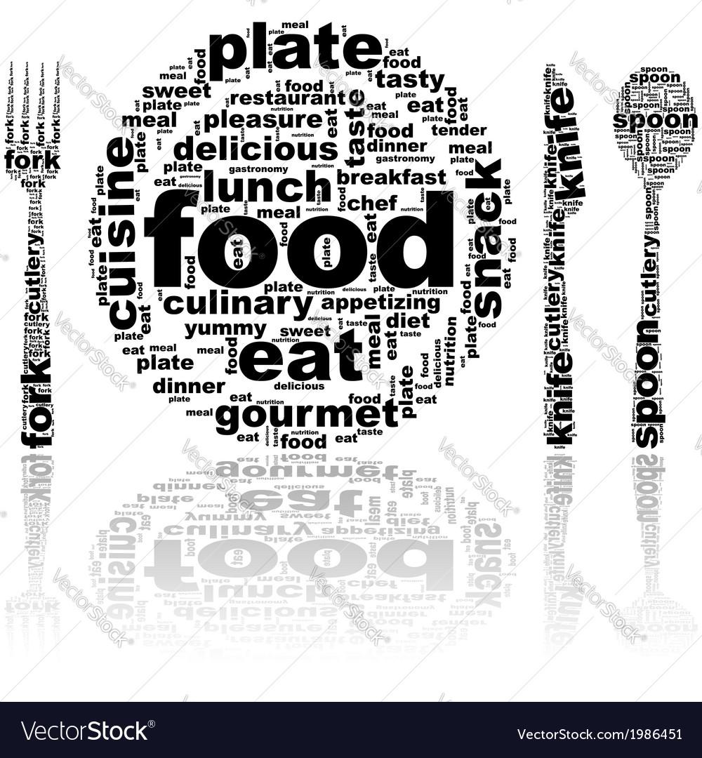 Food word cloud vector