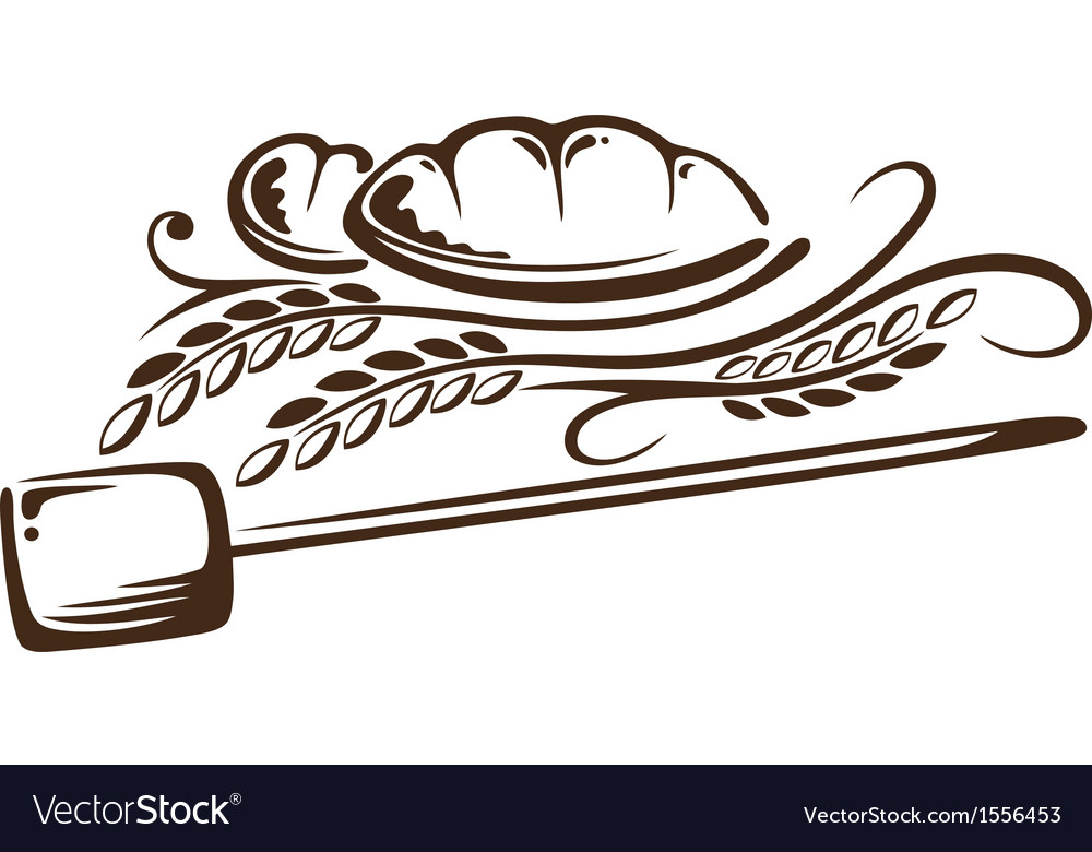 Grain and bread vector