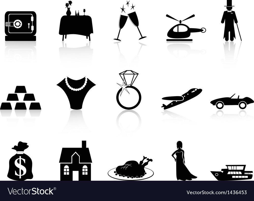 Wealth and luxury icon vector