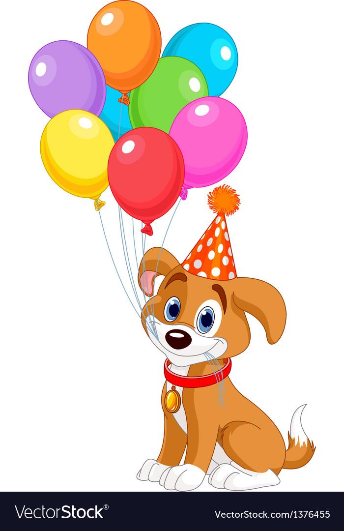 Birthday puppy vector