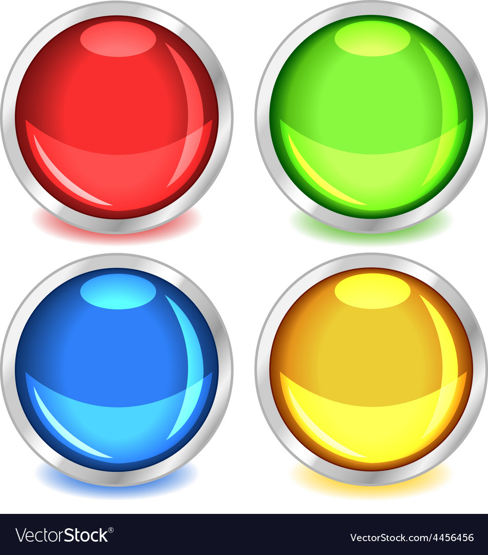 Colorful glossy buttons vector