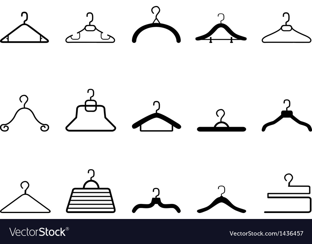 Clothes hangers icon vector