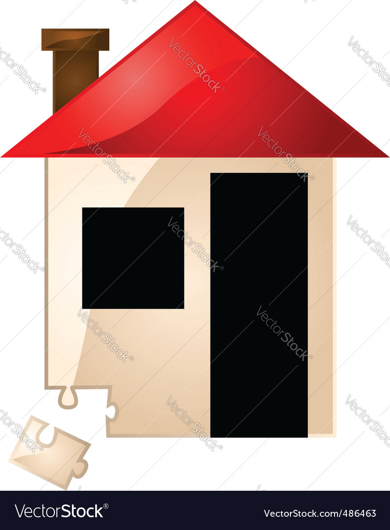 Real estate missing piece vector