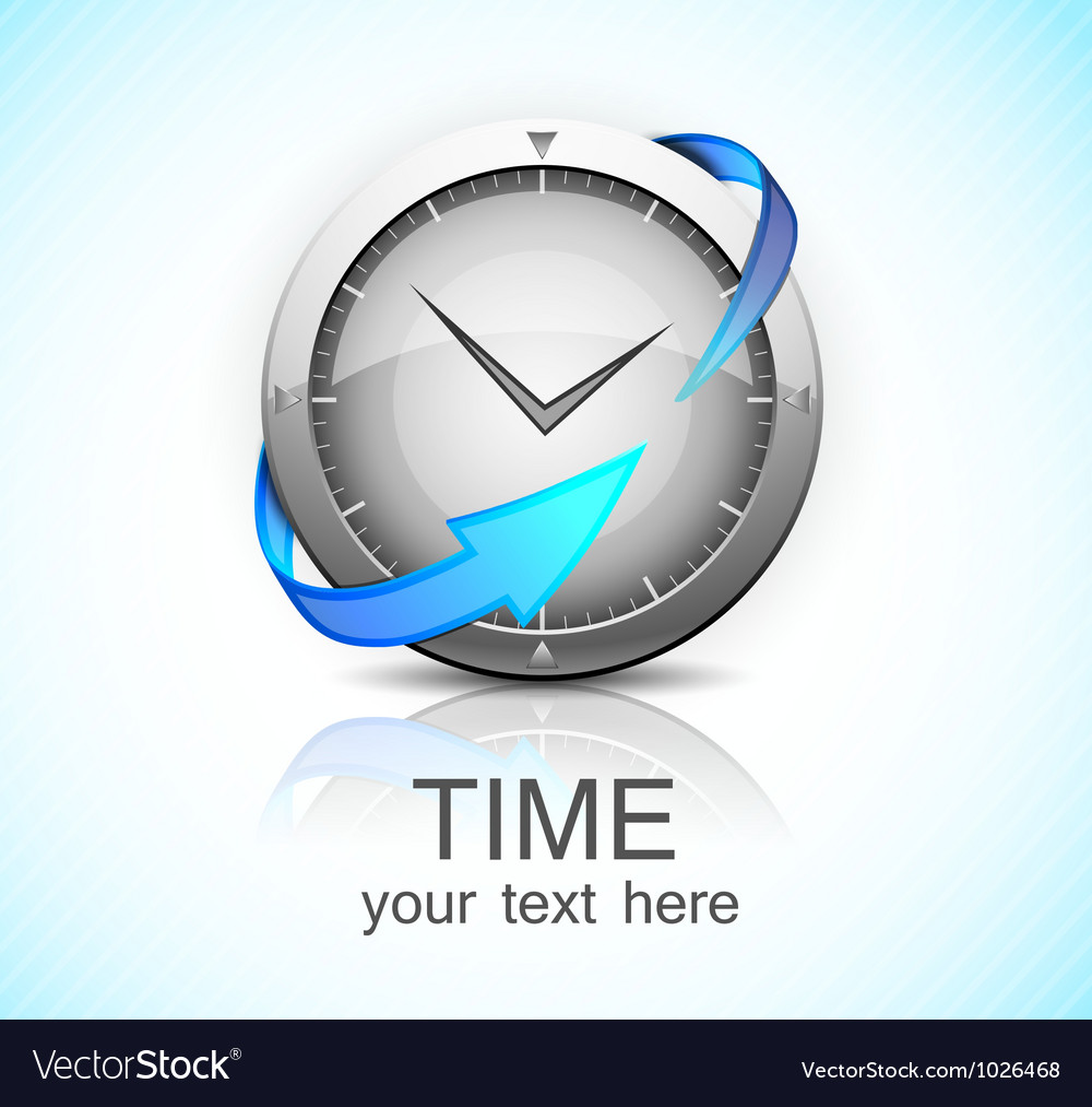 Clock with arrow vector