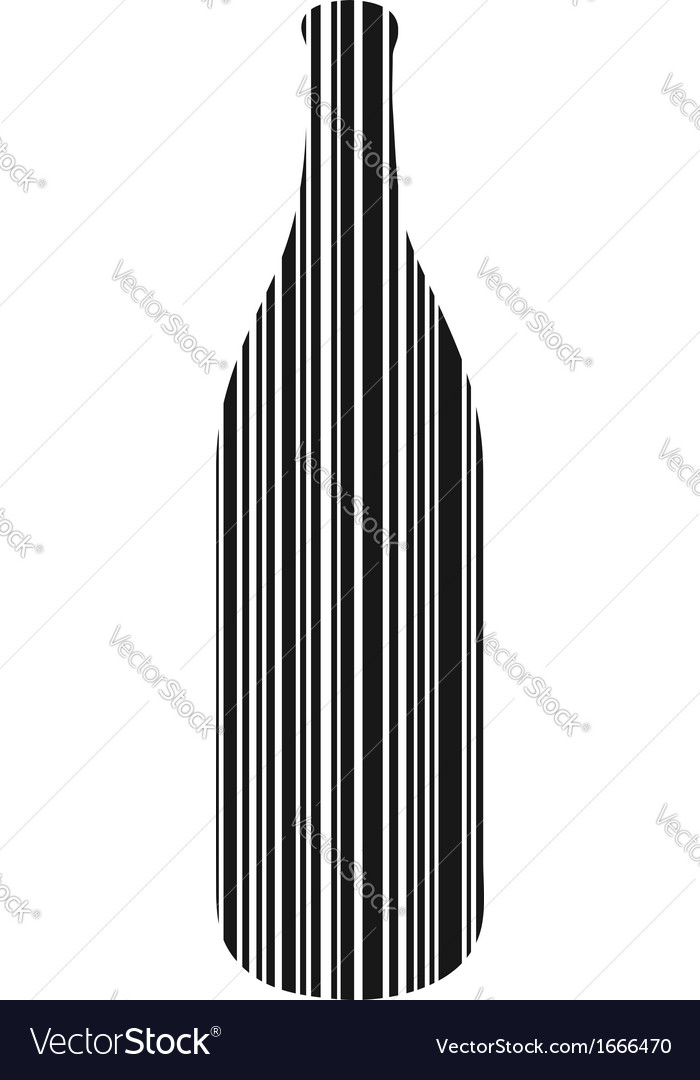 Bottle bar code vector
