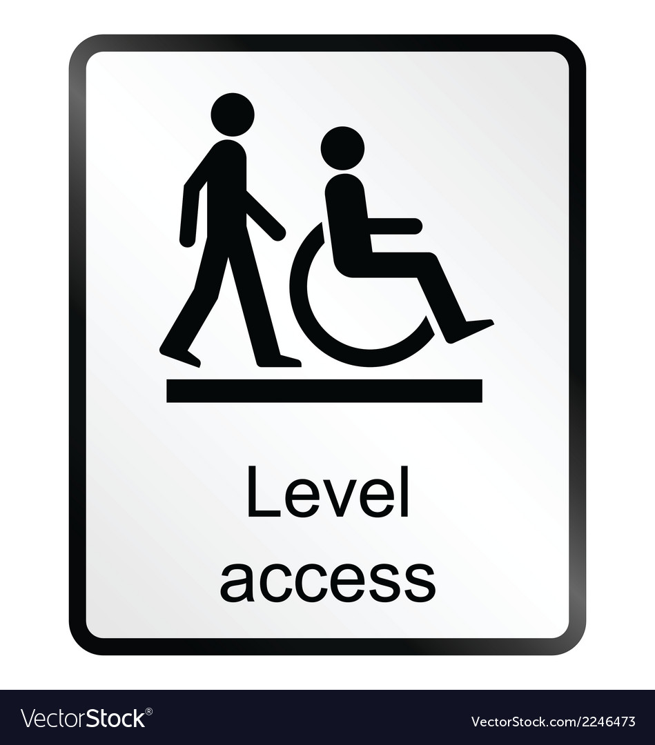 Level access information sign vector