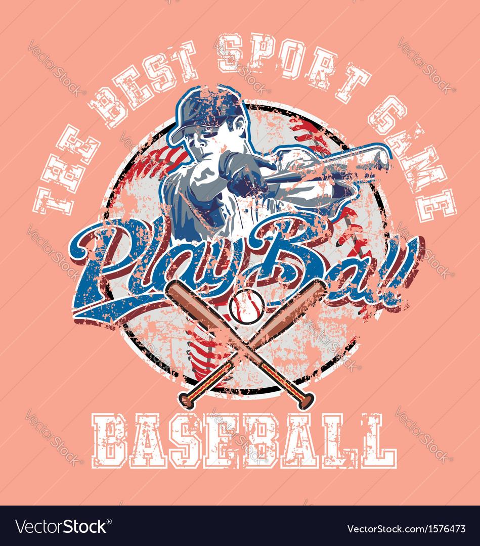 Playball baseball crackpaint vector