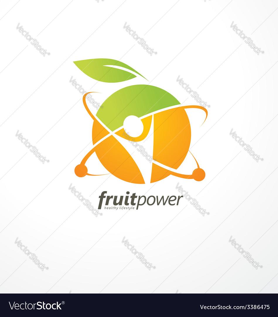 Healthy life style logo design vector