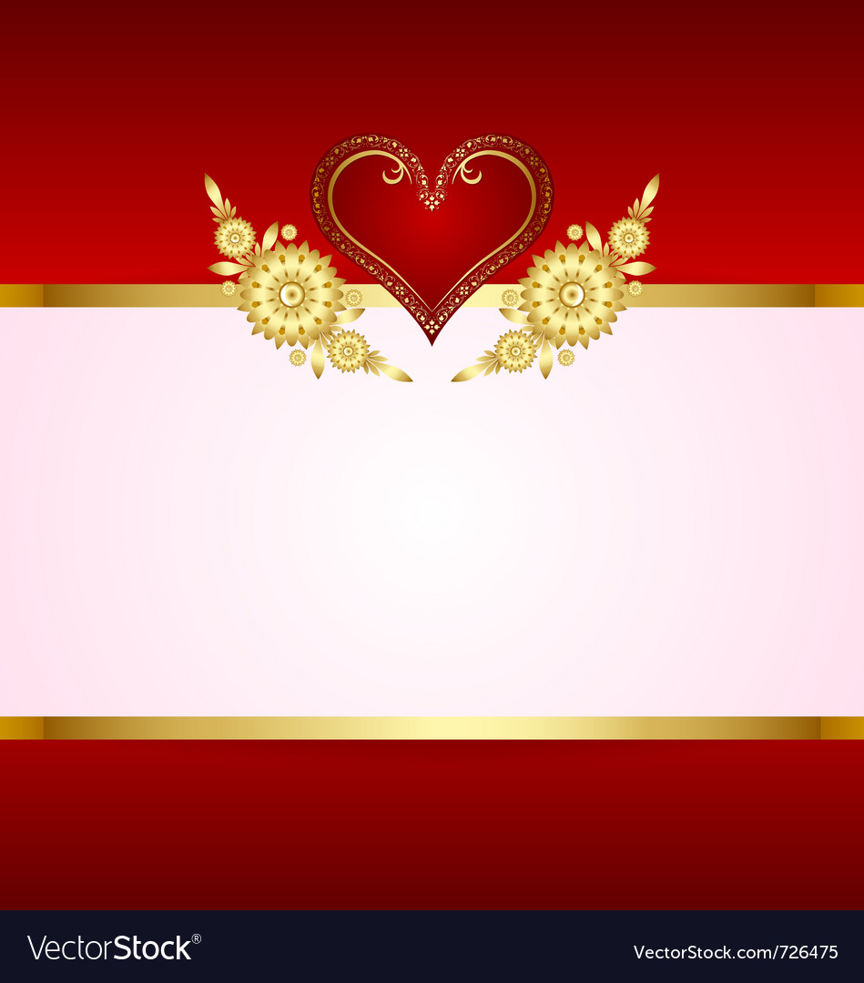 Heart decoration with copy space vector