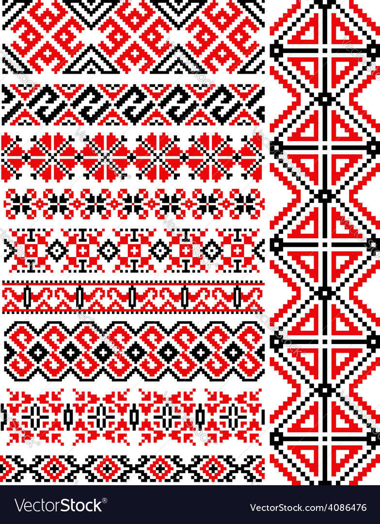 Ethnic vintage patterns and ornaments vector