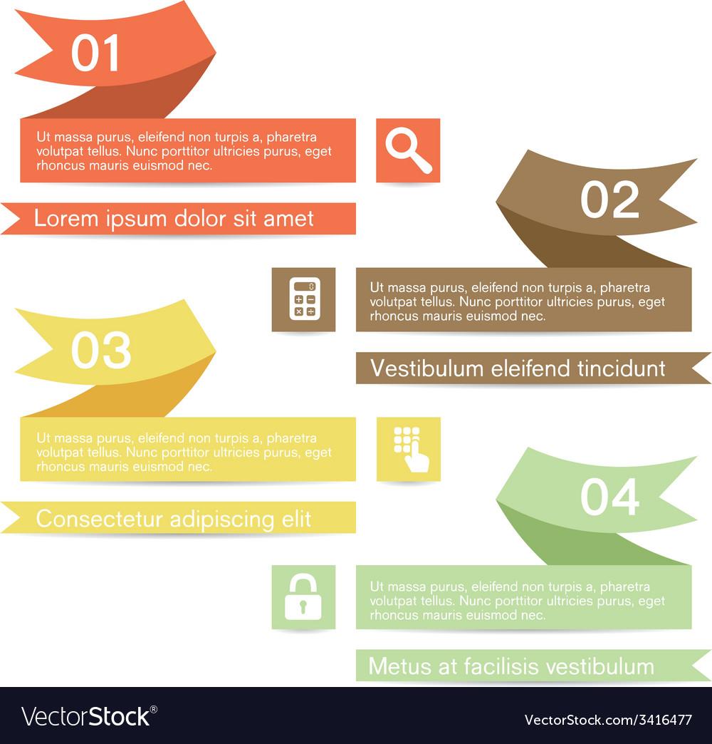 Ribbon infographic vector