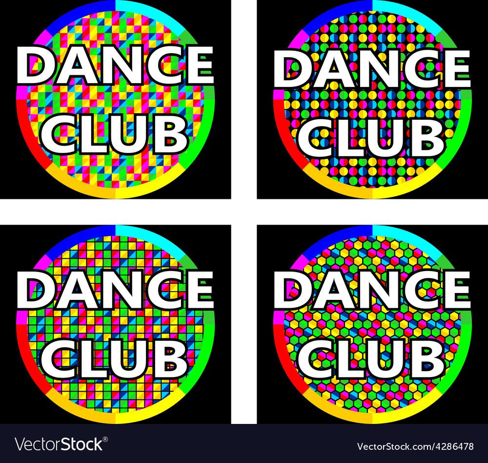 Dance club logo concept vector