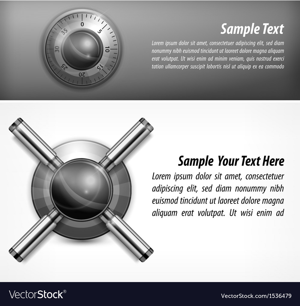 Safe lock and text vector