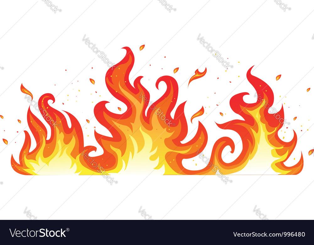Hot fiery flames vector