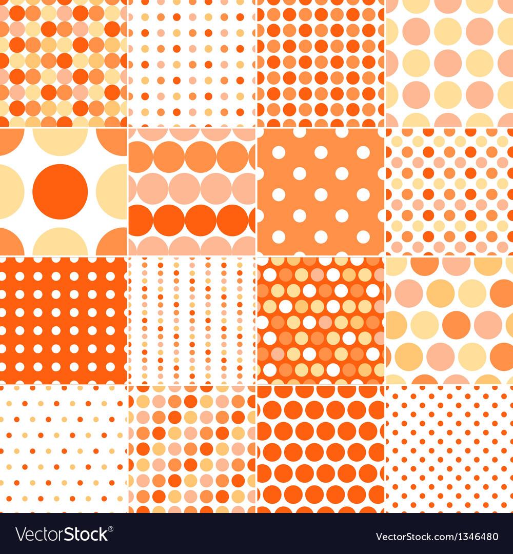 Seamless circular polka dots vector