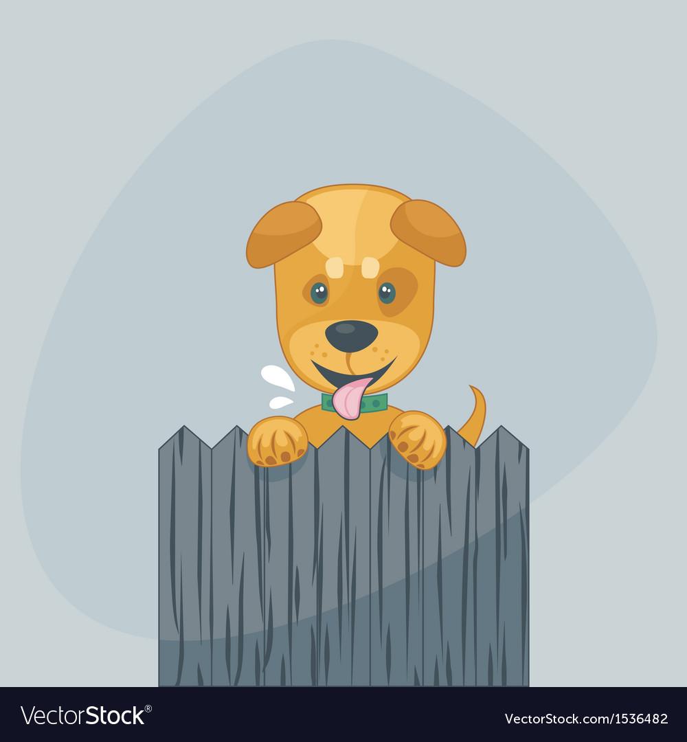 Happy puppy vector