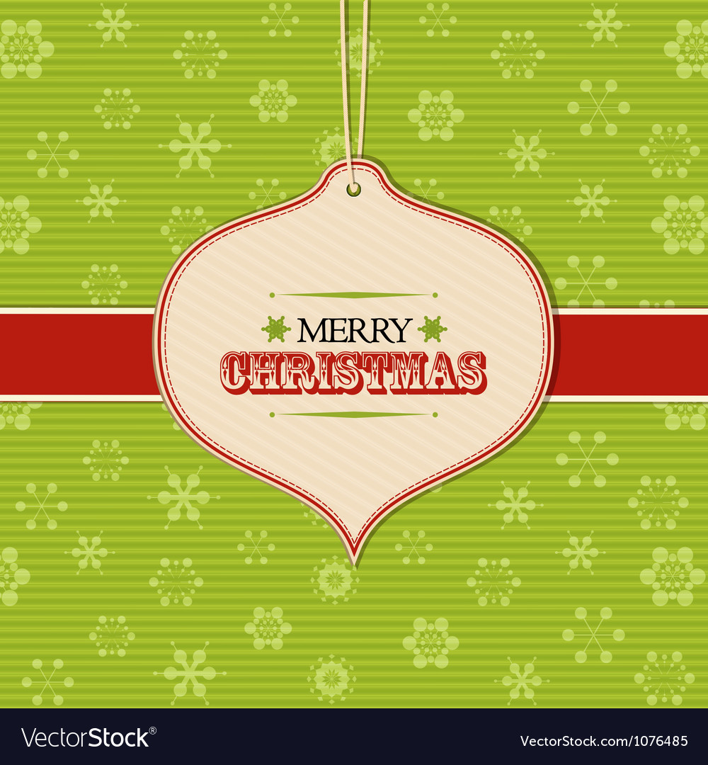 Christmas bauble label background vector