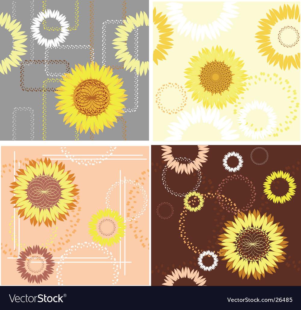 Sunflower patterns vector