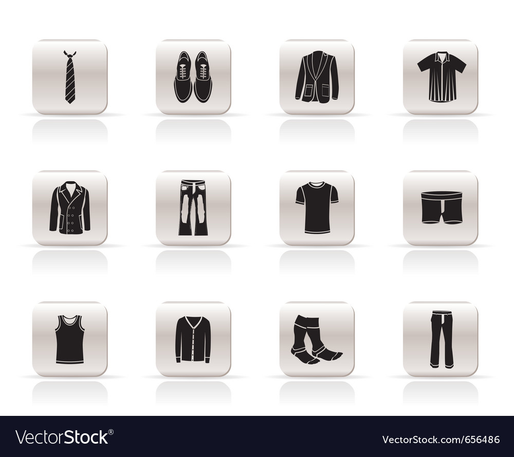 Man fashion and clothes icons vector