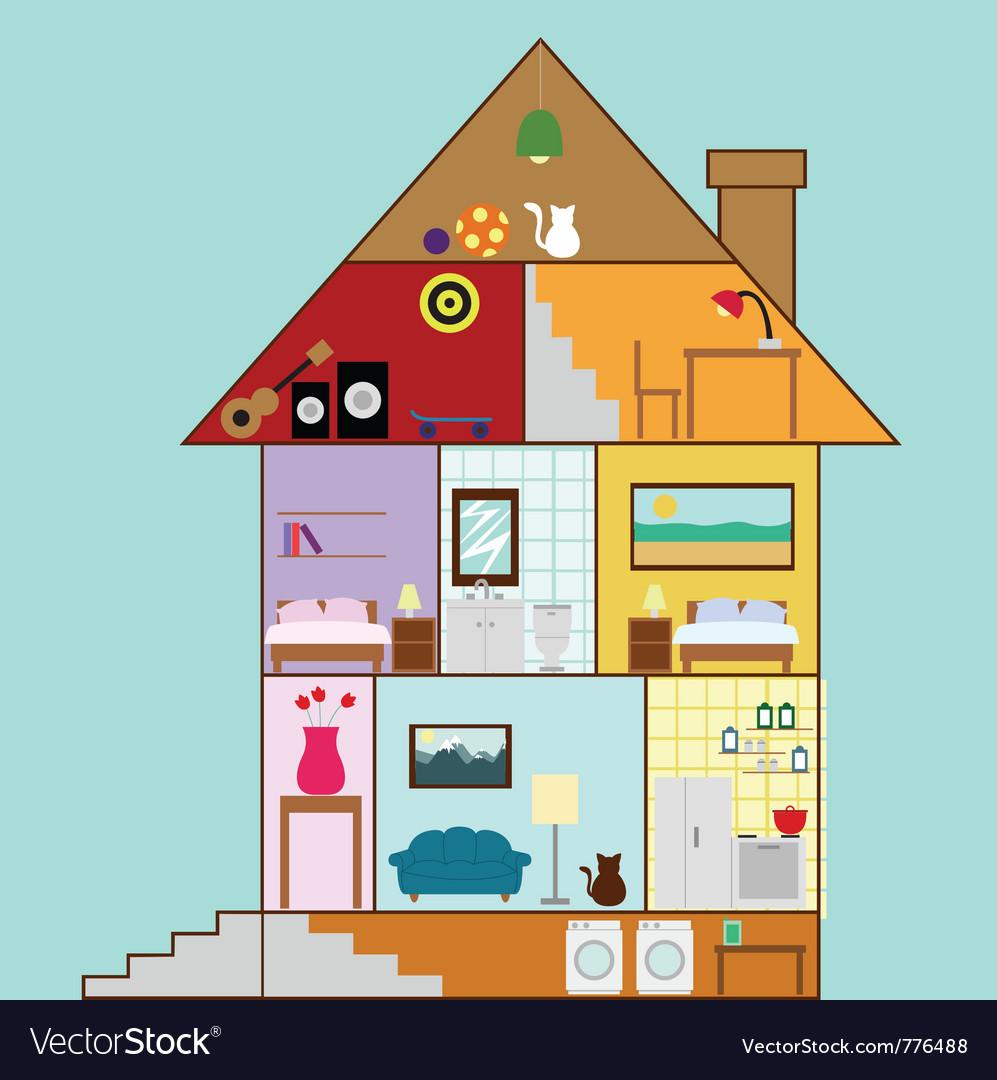 House interior design vector