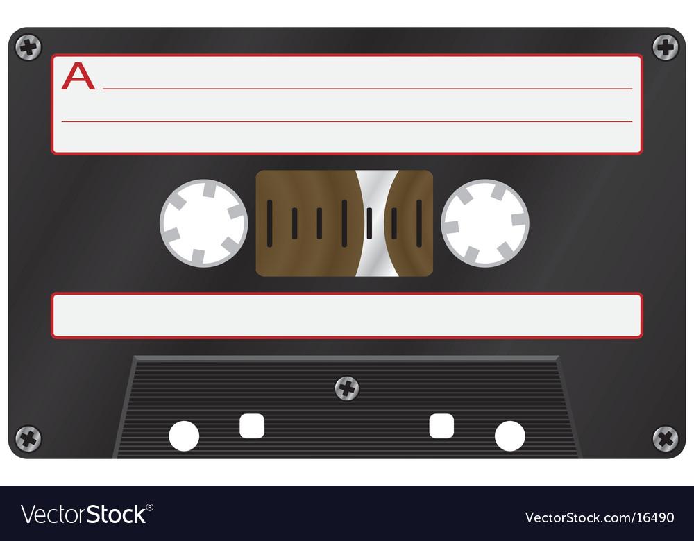 Audio cassete vector