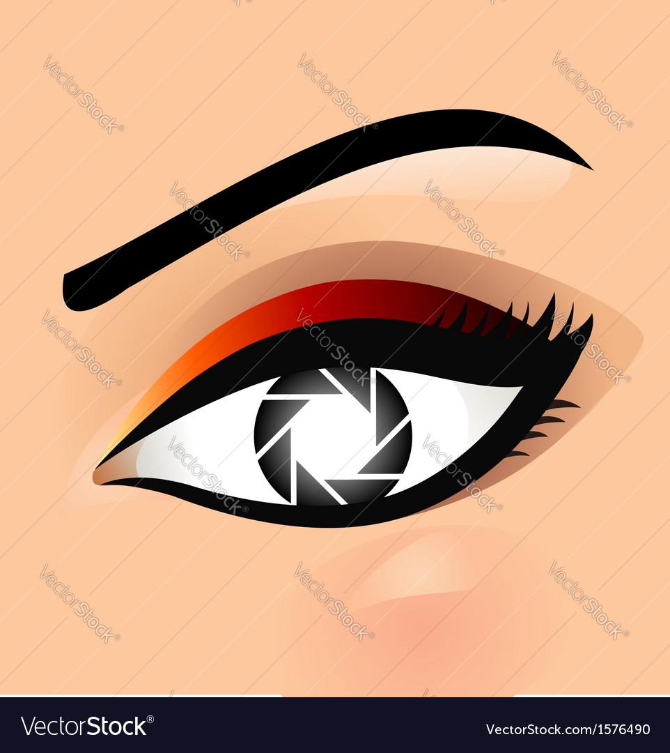 Photographic eye vector