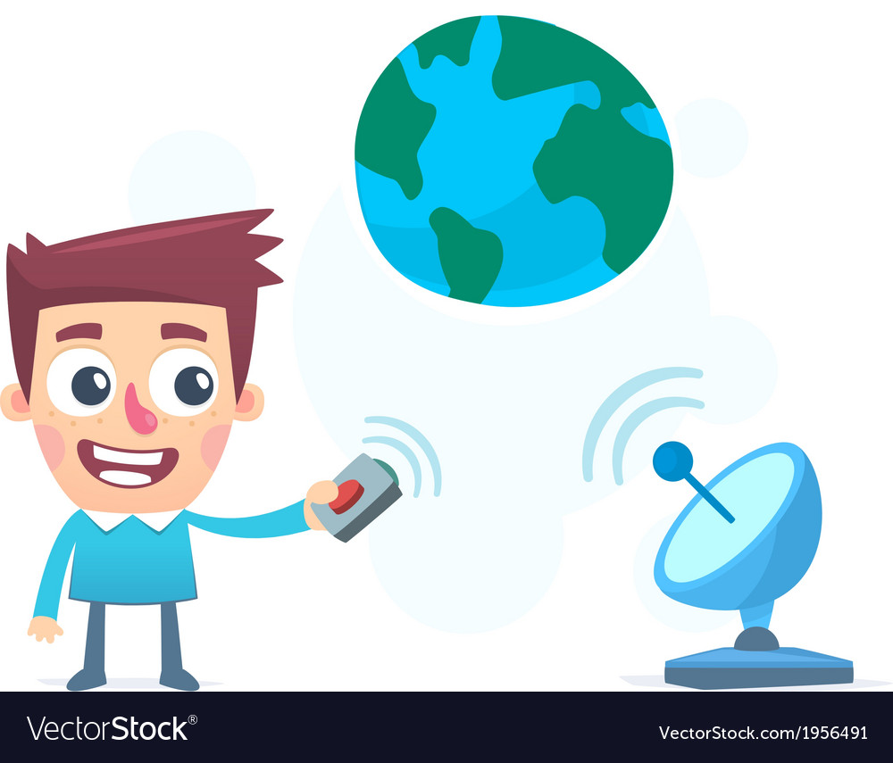 Information broadcast to the whole world vector