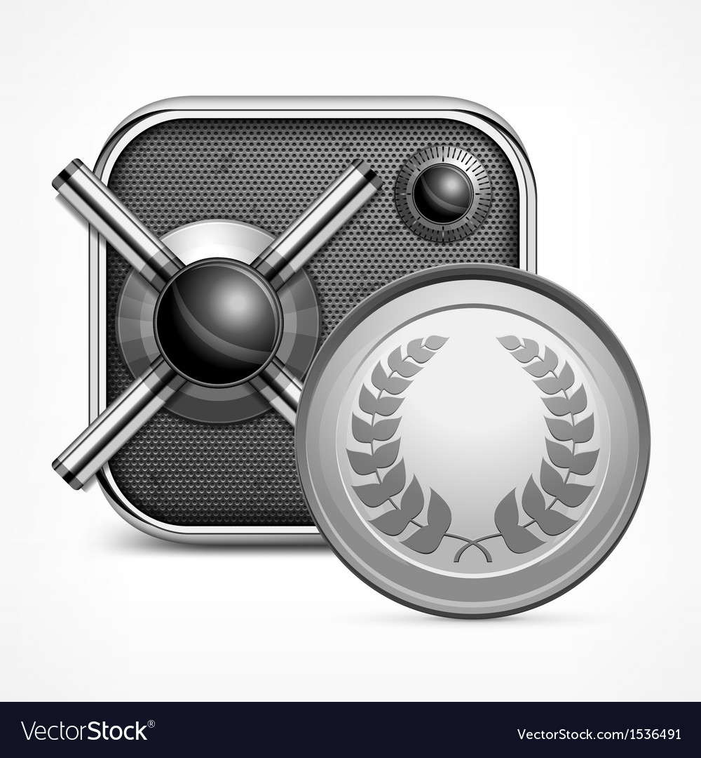 Safe icon  coin vector