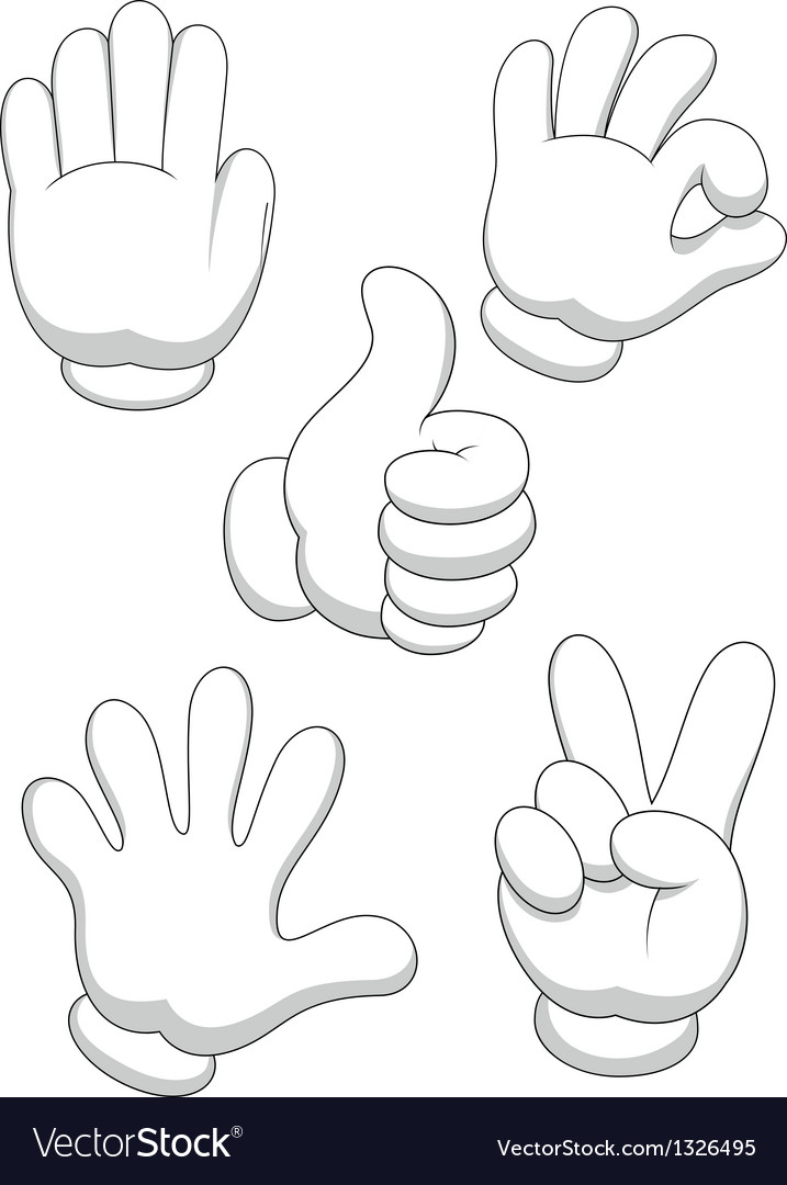 Hand sign cartoon vector