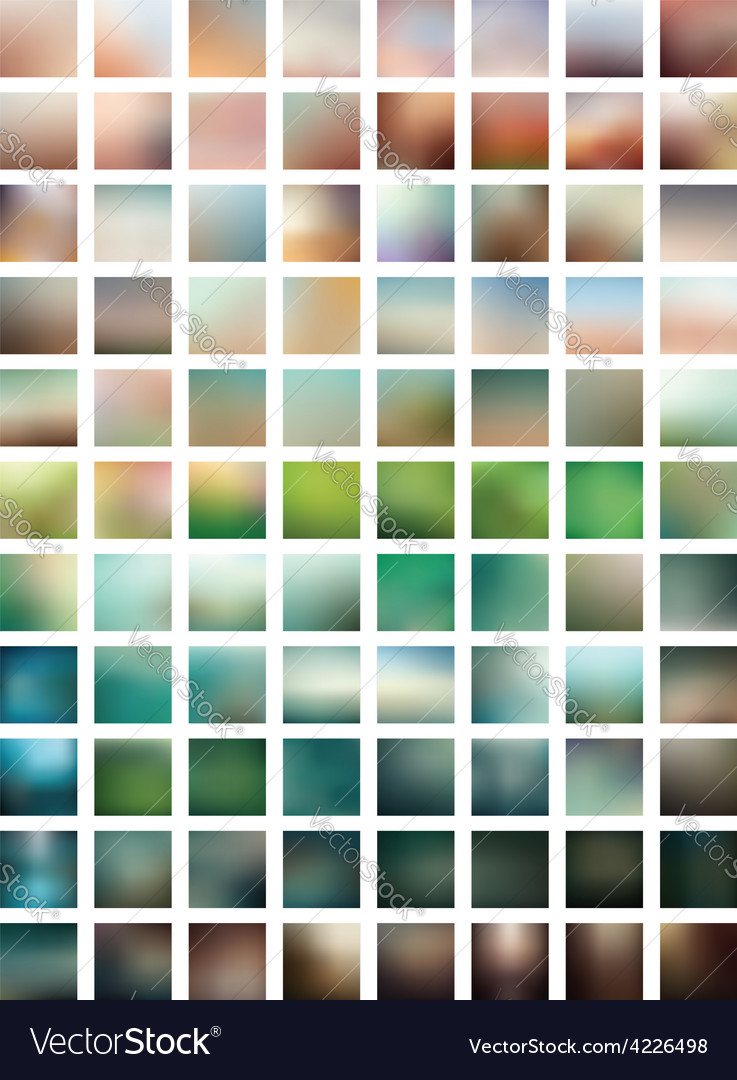 Professional set blurred background vector