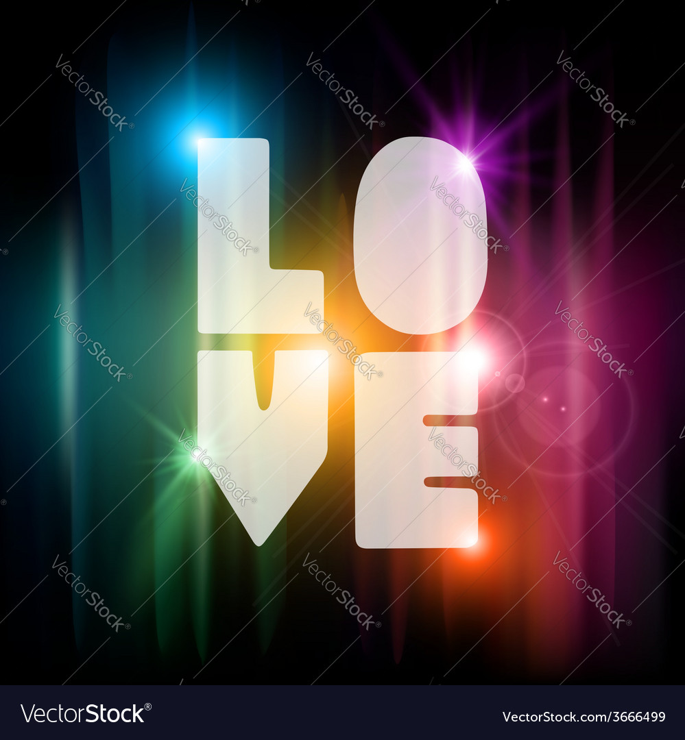 Valentines day love text greeting card vector