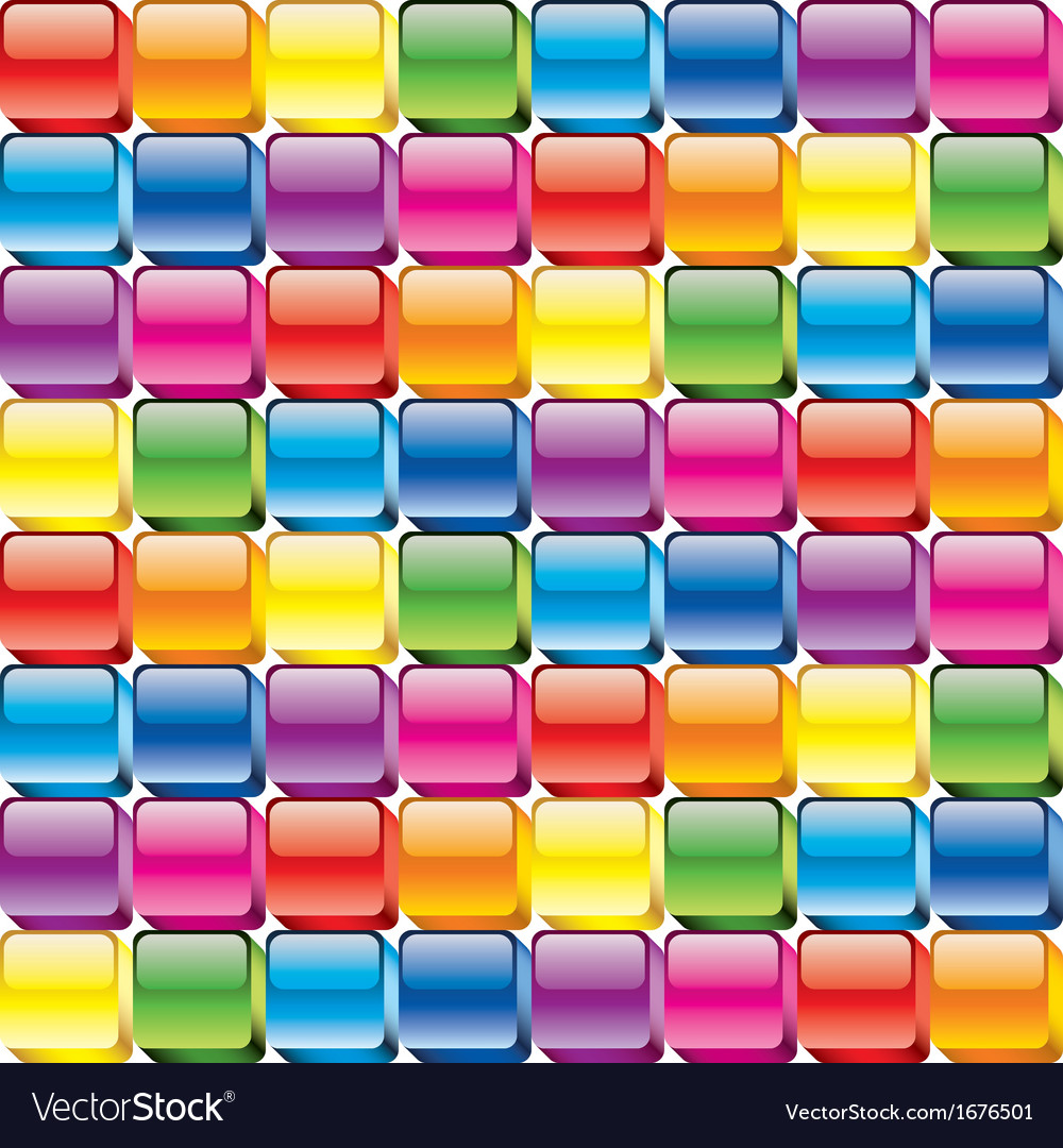 Colorful buttons seamless vector