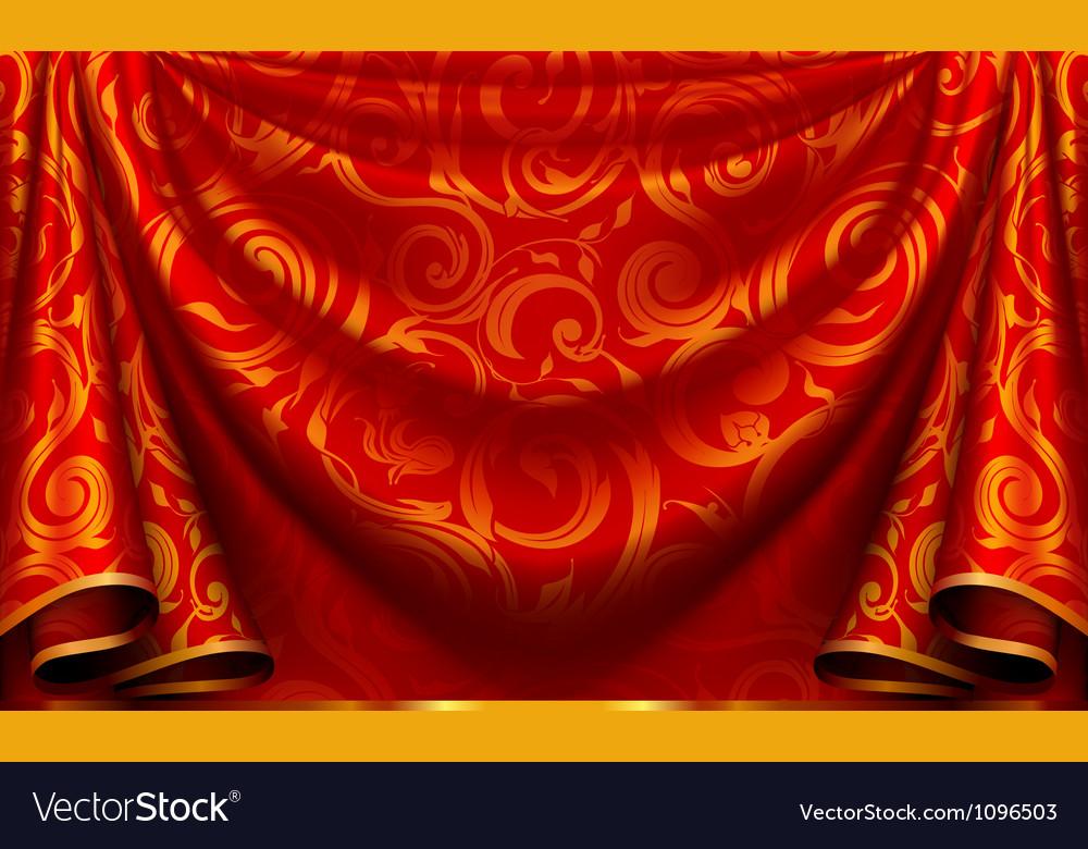 Curtain pattern vector