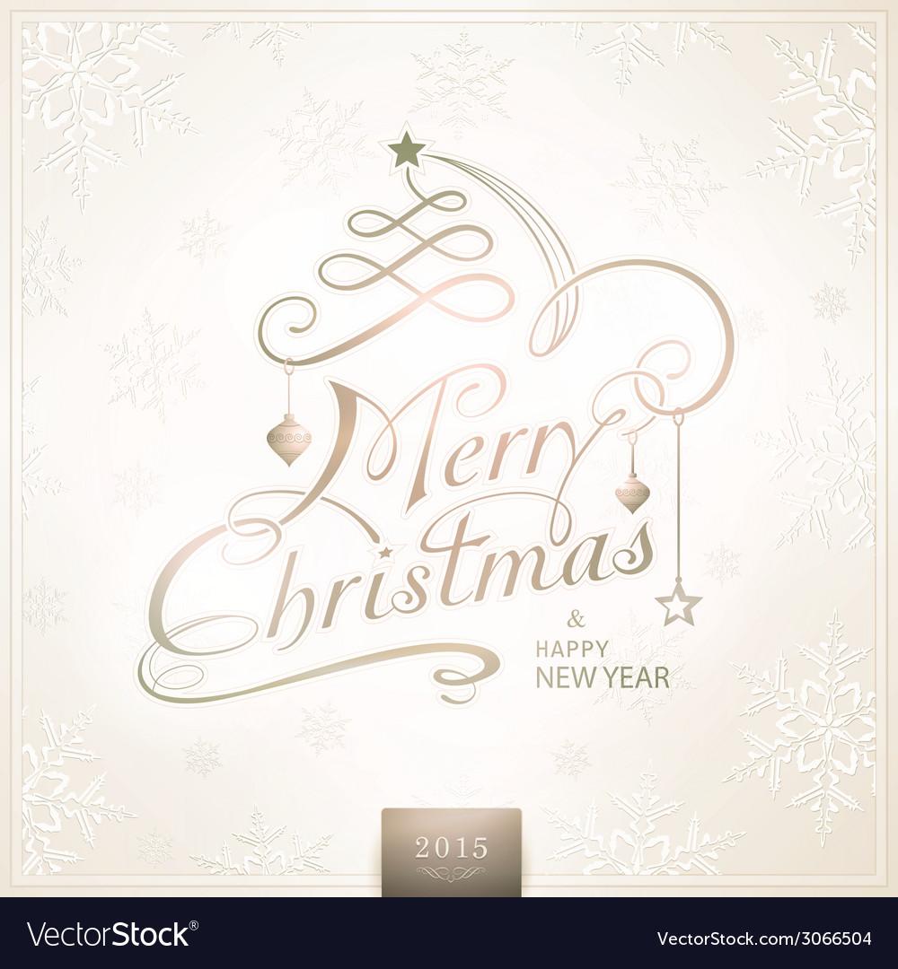 1410001 merry christmas typography handwriting vector