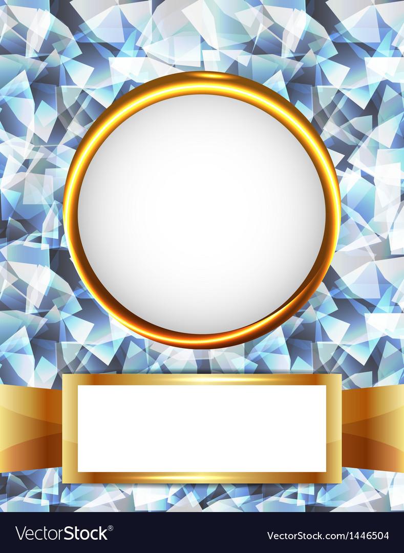 Royal diamond golden frame vector