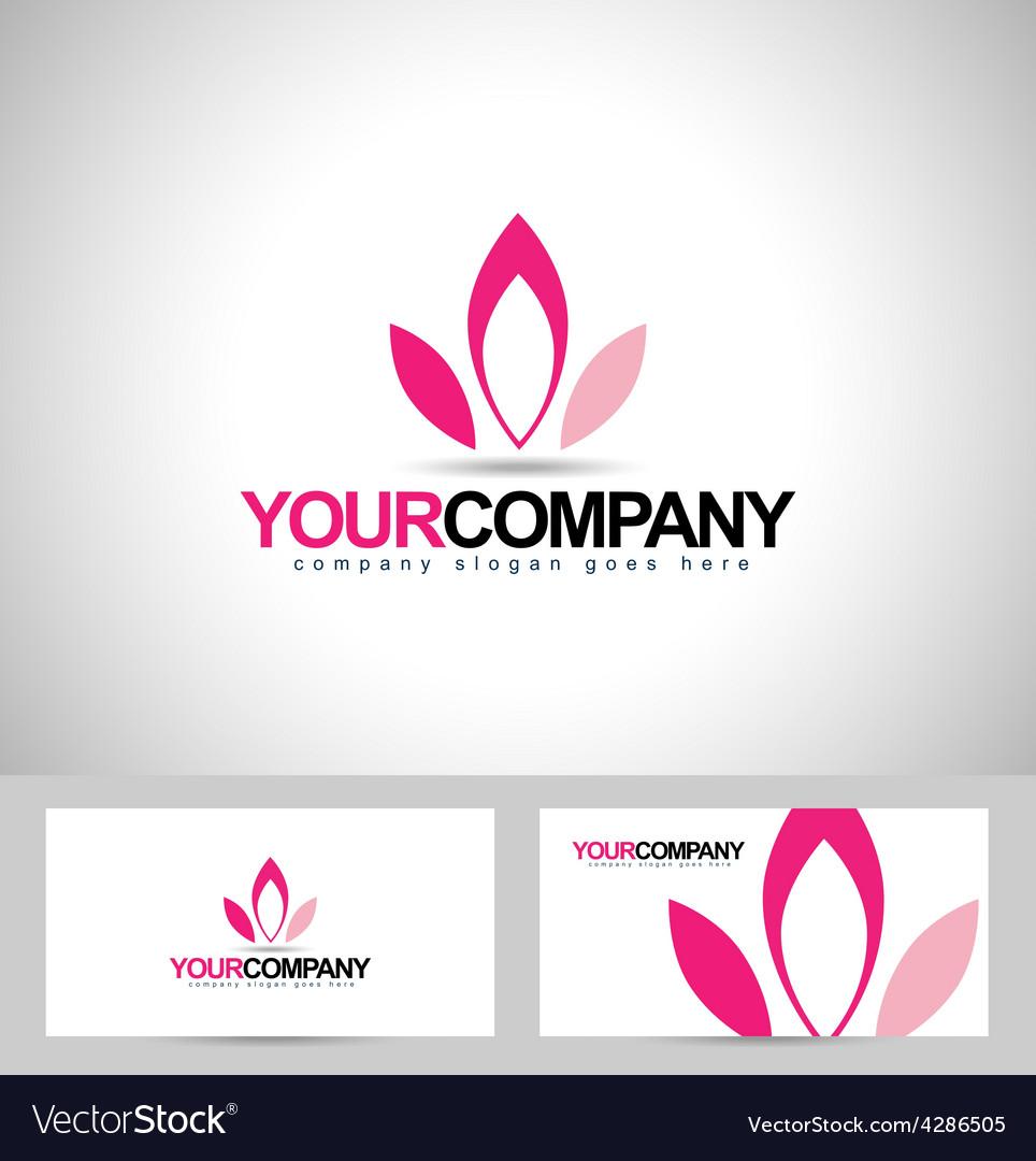 Lotus logo design flower vector